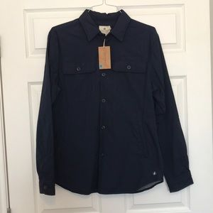 NWT sperry men's large navy shirt jacket